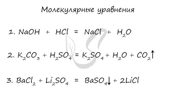 Молекулярное уравнение