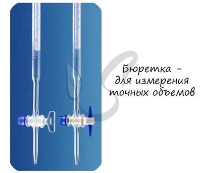 Бюретка для измерения точного объема